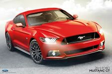 FORD MUSTANG GT - 2015 POSTER 24x36 - SPORTS CAR RED 33952
