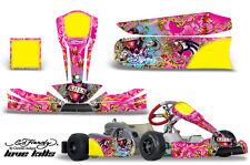 AMR Racing Graphics Tony Kart Cadet Sticker Kits Decals LOVE KILLS PINK