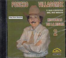 Poncho Villagomez y Sus Coyotes Del Rio Bravo Historia De La Biblia 2 CD New