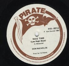 "Don Carlos ‎– Nice Time Late Night Blues / Get Up RARE UK ROOTS 12"" ROOTS PIRATE"