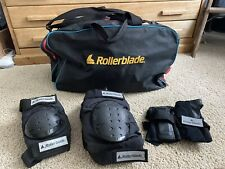 Rollerblade Large Knee Elbow & Wrist Roller Skate Pads/Guards with Duffle Bag