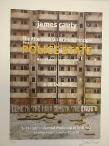 JAMES CAUTY  signed and numbered Police State London print rare