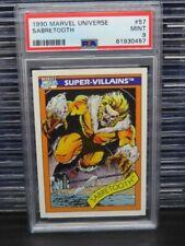1990 Marvels Universe Sabretooth Super Villains #57 PSA 9 MINT Q162