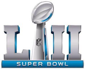 Super Bowl LII (52) Decal (Eagles/Patriot Rematch)
