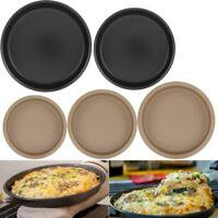 """6""""/7""""/8"""" Round Non-Stick Dish Pizza Pan Pie Muffin Tray Baking Cook Kitchen Tool"""