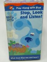 BLUE'S CLUES: STOP, LOOK & LISTEN VHS VIDEO, NICK JR, 2 SIGHT & SOUND EPISODES