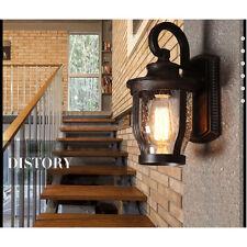 Vintage Industrial Wall Lamp Outdoor Waterproof Light Glass Lighting Decr 1523hc Antique Color 1pc 220v E27 Edison Bulbs