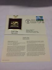 Earth Day Reforestation Stamp, April 20, 1995 FDC and 22kt gold replica