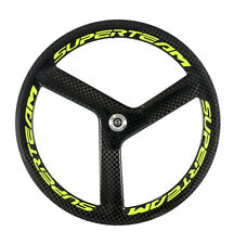 Superteam Tri Spokes Carbon Wheels Fixed Gear Front Wheel 56mm Depth Track Wheel