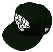 buy online 7be1e 67b91 New Era NFL Jacksonville Jaguars Black White Baseball Truckers Hat Size 7  1 8