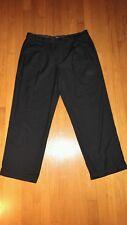 G.H. Bass & Co Pleated & Cuffed Men's Slacks 36x30 Black Pants