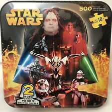 Star Wars Jigsaw Puzzle New Darth Vader Shaped Tin Box 500 Piece Double Sided