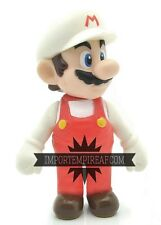 SUPER MARIO FUOCO FIGURE snodabile action white luigi fire Figur Figuren bianco