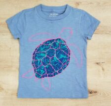 J Crew Crewcuts Everyday Girls T Shirt Size 4-5 Purple Turtle Appliq 100% Cotton