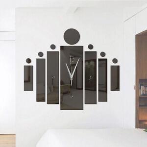 DIY 3D Quartz Wall Clock Acrylic Watch Mirror Stickers Home Room Office Decor