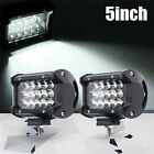 2x 36W 5inch LED Car Work Light Bar Spot Beam SUV Boat Driving Offroad Lamp