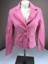 Vtg 90s GUESS AUTHENTIC distressed Red Pink 3 Button Blazer Jacket XS Usa Made
