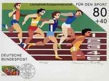 Athlétisme-Pr. Fritz-Dieter Rothacker hdsigniert AVEC orig. Timbre