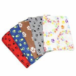 Dog Blanket Paw Printed Soft Warm Sleeping Mat Large Dogs Pled Accessories