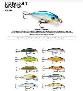 Rapala Ultra Light Minnow // ULM06 // 6cm 4g Fishing Lures (Choice of Colors)