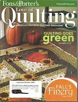 Fons & Porter's Love of Quilting Magazine - Sept/Oct 2008 - Quilting Goes Green