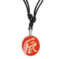 Ancient Asian Script Protection Pewter Pendant Fashion Adjustable Necklace Orang