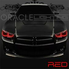 2011-2014 Dodge Charger ORACLE LED Headlight Halo Kit - 4 Rings - Color - Red