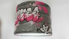Graffiti Pink,White and Silver Rasch Wallpaper LAMPSHADE..Handmade.