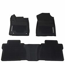Fits Tundra Crew Max 14-18 Floor Mat Black Rubber ALL Weather Liners Genuine OEM