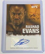 2010 TOPPS UFC - MMA / LIGHT HEAVYWEIGHT CHAMPION - AUTO - RASHAD EVANS