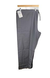 New Fundamentals Gray Nurse Scrub Uniform Pants Size 4 XL Free US Shipping