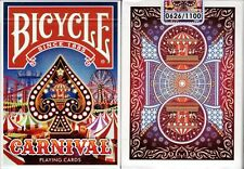Carnival Bicycle Playing Cards Poker Size Deck USPCC Custom Limited New Sealed