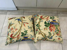 2 Oriental Style Feather Cushions