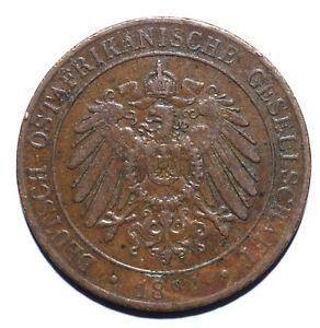 1892 German East Africa One 1 Pesa - Wilhelm II - Lot 975