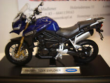 Triumph TIGER  EXPLORER   BLAU  Welly 1:18