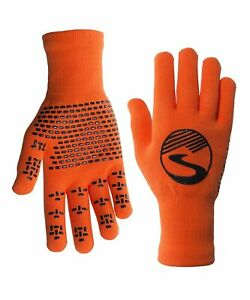 2022 Crosspoint Knit Waterproof Gloves Safety Orange by Showers Pass