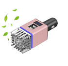 Pink Car air purifier 2in1 ionizer & Fast Dual USB 3.0 port charger accessories