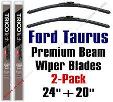 1996-2009 Ford Taurus Wiper Blades 2-Pk Premium Beam Blade Wipers 19240/19200