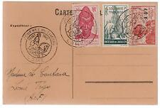 1945 Lome Togo postcard Cover AOF Stamp Day Cancel