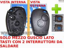 2 interruptor+Cubierta cover llave solamente botones RENAULT CLIO