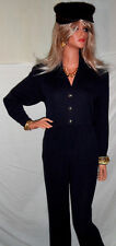 YOU WANT FAVORITE ST JOHN Santana Knit Black Pants 8 Figure Flattering Fit $495!
