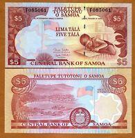 Western Samoa, 5 Tala, ND (2005)  P-33 (33b), UNC