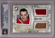 JACQUES PLANTE 09/10 ITG Ultimate HSHS Pad Patch & Jersey # 5/20 He Shoots Saves