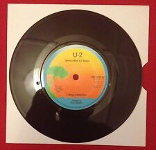 U2 - I Will Follow (Special Edited DJ Version) 1980 UK One Sided 45 DEMO/PROMO