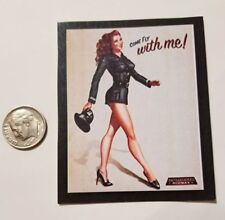 "1 Miniature Playscale Gi Joe Pin up Girl Poster 3"" Military  World War II Fly"