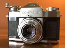 ZEISS IKON CONTAFLEX I w/ CARL ZEISS 45mm f2.8 TESSAR Lens ( CONTAX / CONTAREX )