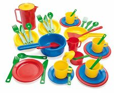 EARLY LEARNING KIDS CHILDRENS PLAY KITCHEN PLAY SET by DANTOY 42 piece durable
