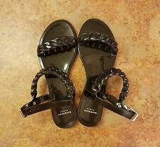 Givenchy 'Nea Chain' Logo Jelly Sandal Black Womens Size 8 US 38 Eur. MSRP $295
