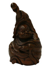 Chinese Bamboo Carved Happy Buddha Figure Display cs2088