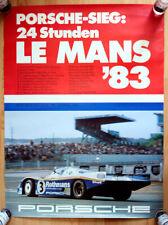 """orginal Porsche Plakat Renn Poster """"Le Mans"""" 1983 Sieg Rothmans Porsche 956"""